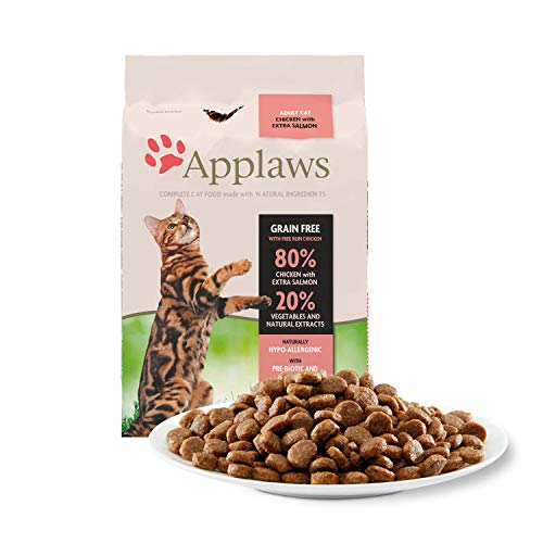 Applaws Katze Trockenfutter Adult, Huhn mit Extra Lachs, 1er Pack (1 x 7.5 kg)